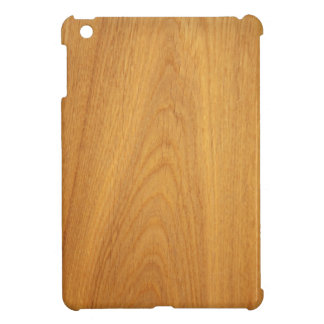 Oak wood grain printed photo iPad mini cover