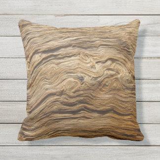 Oak wood texture cushion