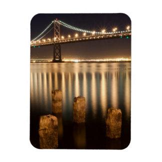 Oakland Bay Bridge night reflections. Magnet