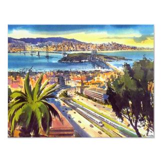 OAKLAND BAY SAN FRANCISCO SKYLINE PARTY INVITATION