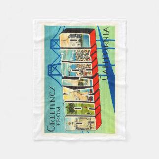 Oakland California CA Old Vintage Travel Souvenir Fleece Blanket