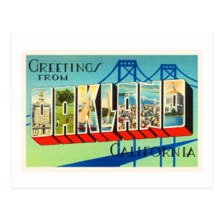 Oakland California CA Old Vintage Travel Souvenir Postcard
