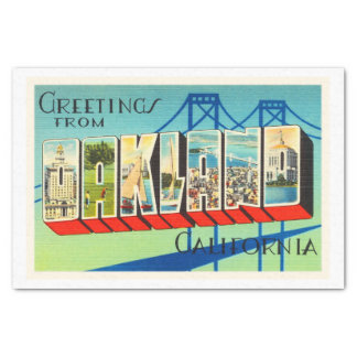 Oakland California CA Old Vintage Travel Souvenir Tissue Paper