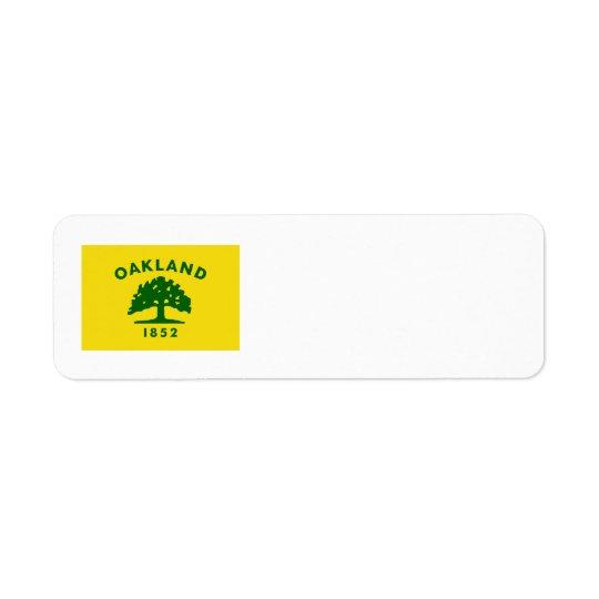 Oakland, California Flag Return Address Label
