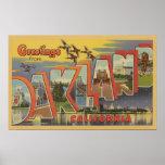 Oakland, California - Large Letter Scenes Print
