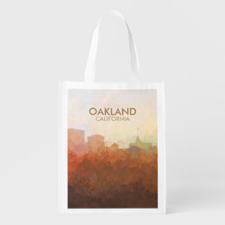 Oakland, California Skyline IN CLOUDS Reusable Grocery Bag