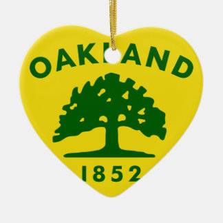 Oakland, California, United States flag Ceramic Ornament