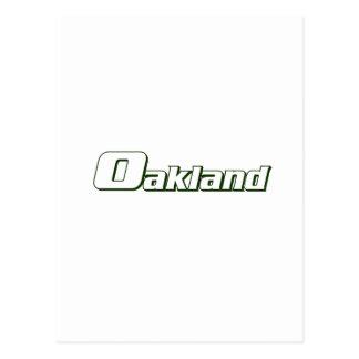 Oakland Font Postcard