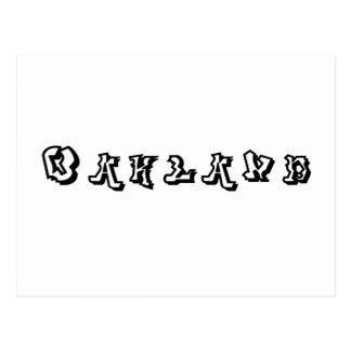 Oakland Graffiti Font Postcard