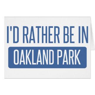 Oakland Park Card