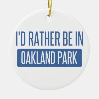 Oakland Park Ceramic Ornament