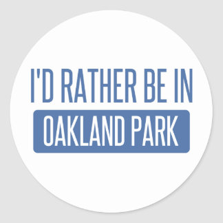 Oakland Park Classic Round Sticker