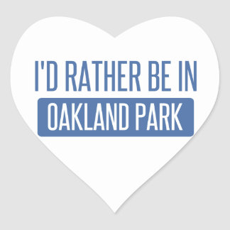 Oakland Park Heart Sticker