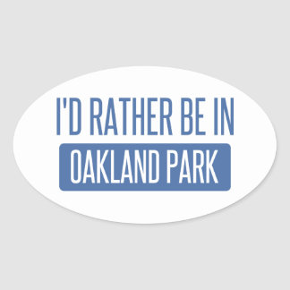 Oakland Park Oval Sticker