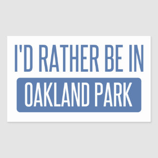 Oakland Park Rectangular Sticker