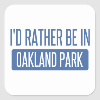 Oakland Park Square Sticker