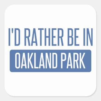Oakland Park Square Sticker