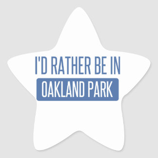 Oakland Park Star Sticker
