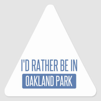 Oakland Park Triangle Sticker