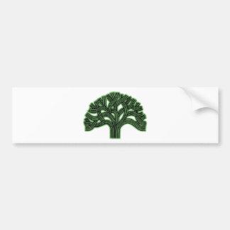 Oakland Tree Green Haze Car Bumper Sticker