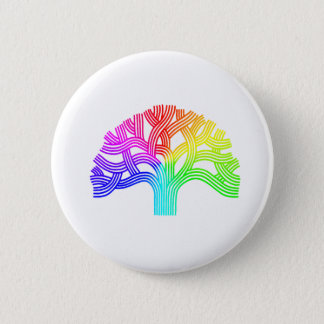 Oakland Tree Rainbow 6 Cm Round Badge