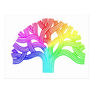 Oakland Tree Rainbow Postcard
