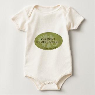 Oakmont Farmers Market Logo Baby Bodysuit