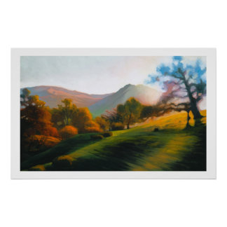 Oaks in Poly Canyon Poster
