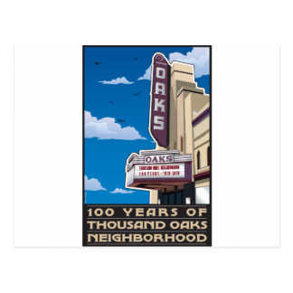 Oaks Theater on Solano Avenue in Berkeley, CA Postcard