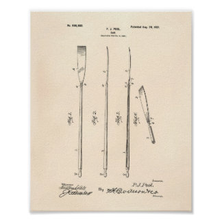Oar 1901 Patent Art - Old Peper Poster