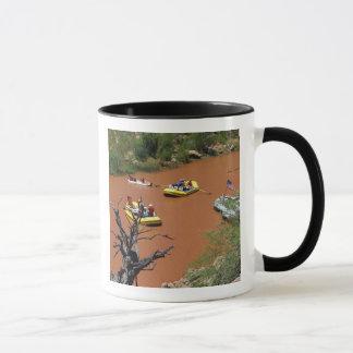 Oar powered rafts turn into the Colorado River Mug