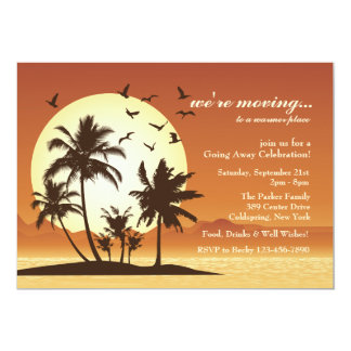 Oasis Sunset Going Away Party Invitation