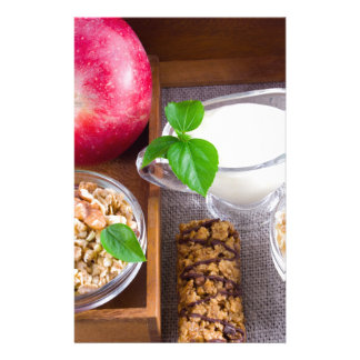 Oat cereal with nuts and raisins stationery