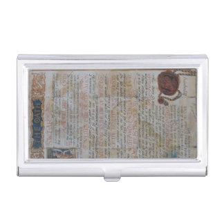 Oath of Hippocrates Business Card Holder