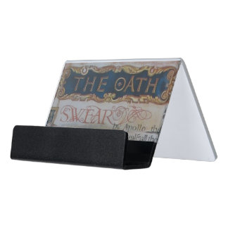 Oath of Hippocrates Desk Business Card Holder