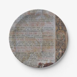 Oath of Hippocrates Paper Plate