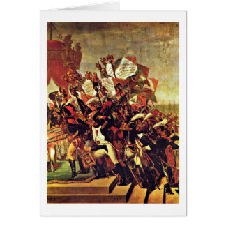 Oath Of The Army By Jacques-Louis David Greeting Card