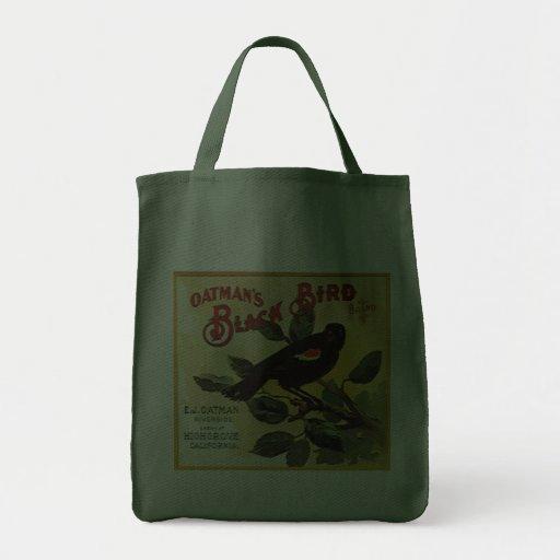 Oatman's Black Bird Brand Fruit Crate Label Bag