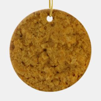 Oatmeal Cookie Ceramic Ornament