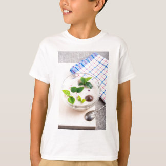 Oatmeal in a bowl of glass with chocolate candy T-Shirt