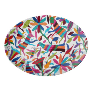 Oaxaca Mexico Mexican Mayan Hispanic Ethnic Boho Porcelain Serving Platter
