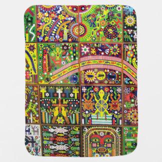 Oaxaca Mexico Mexican Mayan Tribal Art Boho Travel Baby Blanket