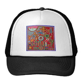 Oaxaca Mexico Mexican Mayan Tribal Art Boho Travel Cap
