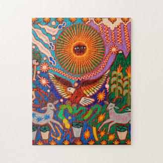 Oaxaca Mexico Mexican Mayan Tribal Art Boho Travel Jigsaw Puzzle