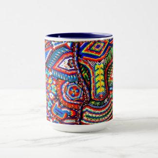 Oaxaca Mexico Mexican Mayan Tribal Art Boho Travel Mug