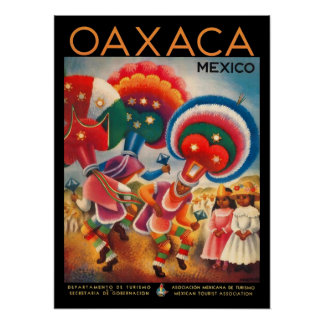 Oaxaca Mexico Vintage Travel Poster
