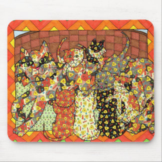 Oaxacan Cat and Kittens Mouse Pad