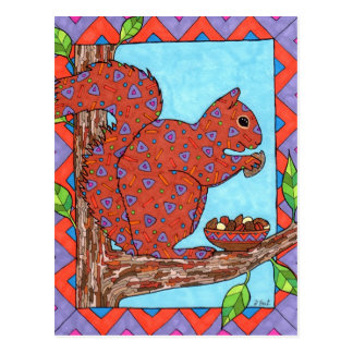 Oaxacan Squirrel with Mixed Nuts Postcard