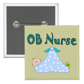 OB Nurse Gifts Baby in Blanket--Adorable Button