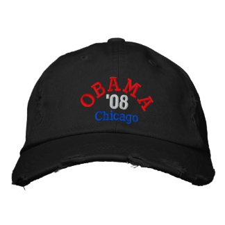 Obama '08 Chicago Hat Embroidered Cap